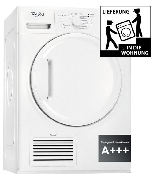 WHIRLPOOL HDLX 80310   8kg Wärmepumpentrockner A+ für 319€ (statt 484€)