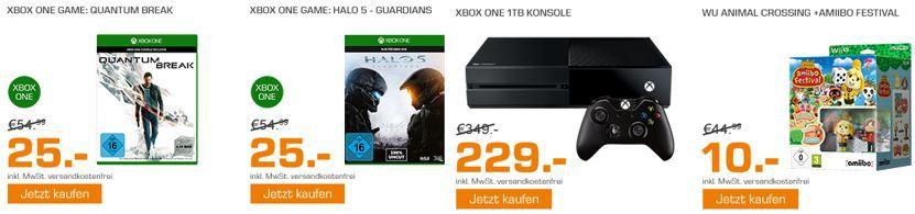 XBox one Games und Konsolen Angebote MICROSOFT Xbox One 1TB für 229€ und mehr günstige Angebote im Saturn Weekend Sale