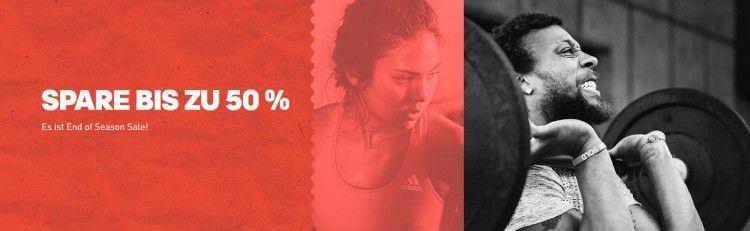 adidas End of Season Sale mit bis zu 50% Rabatt + VSK frei ab 50€