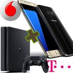 Vodafone oder Telekom-Tarif + Samsung S7 (Edge) + PS4 oder Gear VR ab 24,99€ mtl.