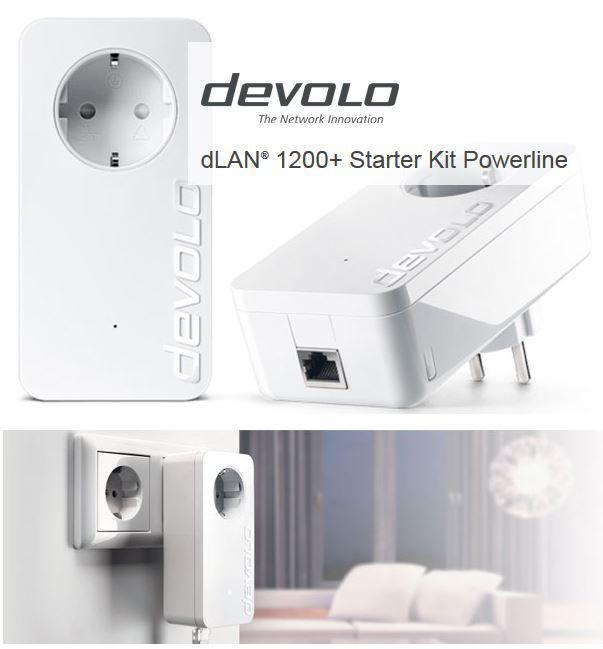 devolo dlan 1200+ Devolo dLAN 1200+ Powerline Starter Kit 1200 Mbit/s für 99,99€