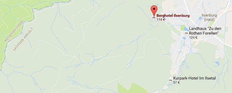 ilsenburg map 2 ÜN im Harz inkl. HP, Spa & Massage ab 189€ p.P.