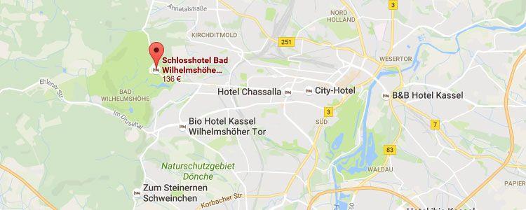 kassel map 2 ÜN in einem Schlosshotel in Kassel inkl. Frühstück, Dinner, Wellness & mehr ab 129€ p.P.