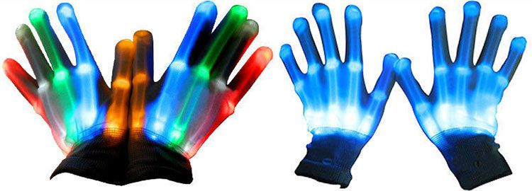 LED Handschuhe in 6 Farben für je 4,28€