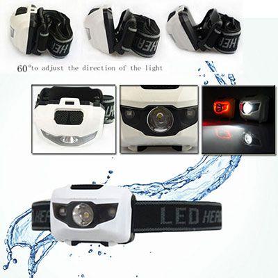 led stirnlampe th LED Stirnlampe mit 900LM & 4 verschiedene Modi für 2,08€