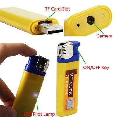 Feuerzeugkamera mit Video  und Bildfunktion für 5,23€