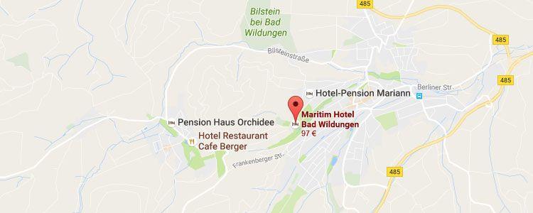 map wildungen 2 ÜN in Nordhessen inkl. Frühstück, Dinner & Wellnessbereich (2 Kinder bis 6 kostenlos) ab 129€ p.P.