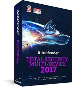 Bitdefender Total Security 2017 für bis zu 5 Geräte für 13,99€