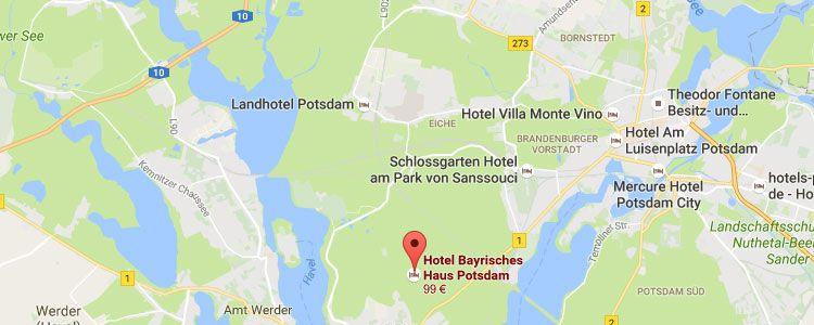 potsdamm map 2 ÜN in Potsdam im 5* Hotel inkl. Frühstück & Wellness (1 Kind bis 6 kostenlos) ab 129€ p.P.