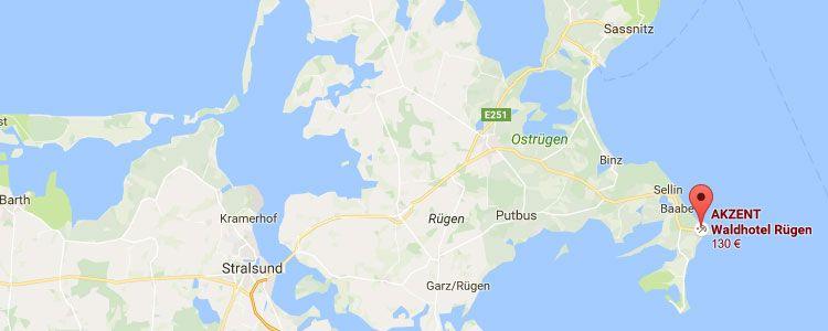 ruegen map 2 ÜN auf Rügen inkl. Frühstück & Wellness (2 Kinder bis 5 kostenlos) ab 99€ p.P.