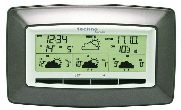 techno line Technoline WD4005 Wetterstation mit 4 Tage Vorhersage und Aussensensor für 19,99€