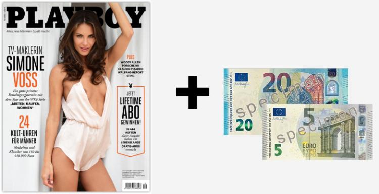 6 Ausgaben Playboy für 37,50€ inkl. 25€ Verrechnungscheck & 5€ Rabatt bei Bankeinzug