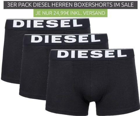 3er Pack Diesel Boxershorts für je 24,99€