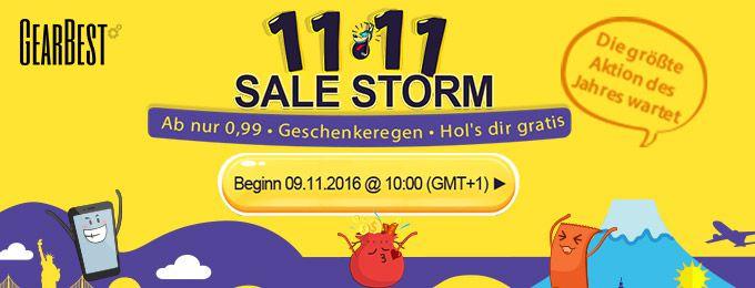 Sale Storm bei Gearbest mit großen Rabatten   z.B. Quad Core TV Box nur 18€