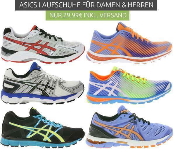 Asics Cyber Monday Angebot asics Lauf  & Sportschuhe für Damen und Herren für nur 29,99€