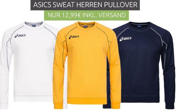 Asics Herren Swaet Shirt asics Sweat Alpha   Herren Sweatshirt für 12,99€