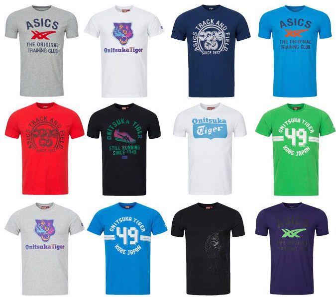 Div. Asics Tee Herren T Shirts für je 11,99€