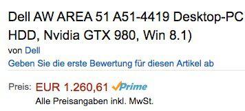 Bildschirmfoto 2016 11 02 um 15.12.07 Ausverkauft! Dell Alienware Area 51 PC (i7, 8GB, 128GB SSD, 2TB, GTX 980) für 1.260.61€(statt 2.034€?)