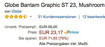 Schnell! Globe Bantam Graphic ST 23 Longboard ab 23,17€ (statt 87€)