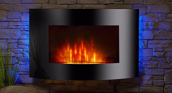 El Fuego Zürich Elektrokamin mit Heizfunktion und Kaminfeuer Effekt für 106,96€ (statt 132€)