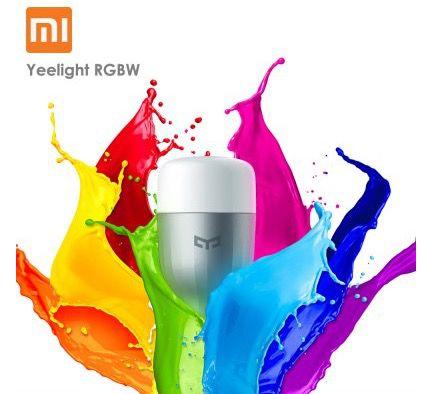 Xiaomi Yeelight RGBW E27 LED Lampe mit App Steuerung für 13,59€ (statt 18€)