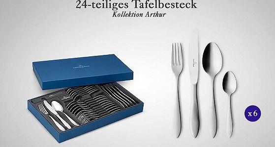 Villeroy & Boch Gläser , Besteck  & Tellersets bei vente privee   z.B. 8 Gläser nur 34€ (statt 48€)