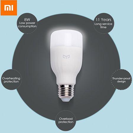 Xiaomi Yeelight E27 Smart LED Leuchte mit App Steuerung für 8,76€ (statt 12€)