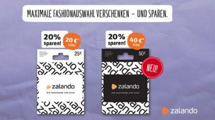 20% Rabatt auf Zalando Geschenkkarten bei REWE   nur in den Filialen!