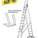 Hailo ProfiLOT Alu-Mehrzweckleiter 3×12 inkl. Einhängetritt für 259,99€ (statt 300€)