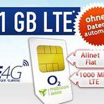 TOP! o2 Comfort Allnet Flat mit 1GB LTE für 5,55€