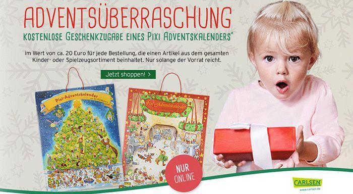 Vorbei! Ernstings Family: Gratis Pixi Adventskalender (Wert 20€) zu jeder Online Bestellung mit Kinderartikel