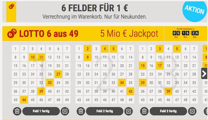 Bildschirmfoto 2016 11 09 um 12.43.31 TOP! 6 Lottofelder 6 aus 49 für nur 1€   für Tipp24 Neukunden!
