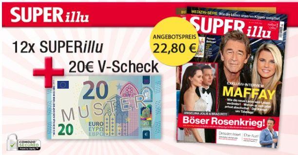 12 Ausgaben der SUPERillu für 22,80€ inkl. Tank  o. Shopping Gutschein