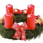 Adventskranz mit roten Kerzen für 9,95€