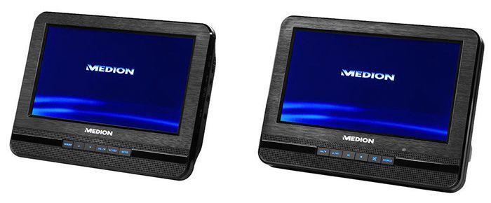 Medion Life E72053   portabler Twin DVD Player für 69,99€ (statt 119€)   B Ware