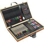 Malkasten mit Wasserfarben + Pinsel + Buntstifte 88-teilig für 17,95€ (statt 25€)