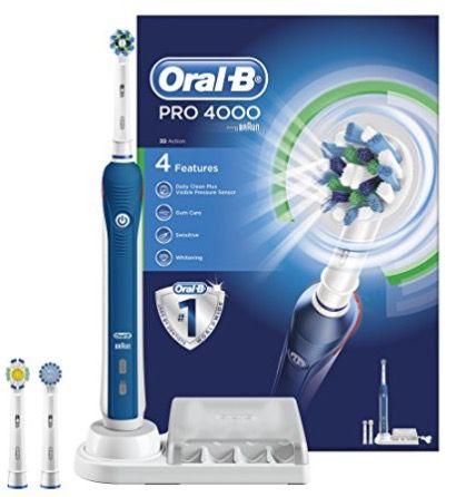 Schnell! Oral B Pro 4000 CrossAction Zahnbürste für 64,23€ (statt 96€)