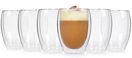 6er Pack Doppelwandige Cappuccino Gläser für 22,99€ (statt 32€)