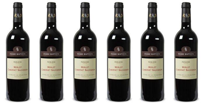 6 Flaschen Pierre Baptiste Merlot Cabernet Sauvignon für 28,89€