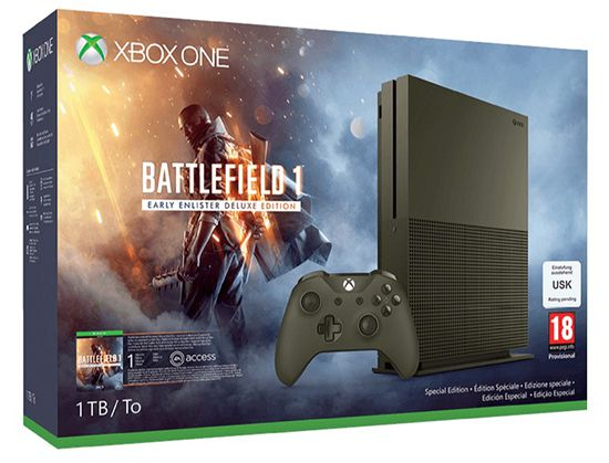 Bildschirmfoto 2016 11 21 um 15.10.45 Microsoft Xbox One S 1TB + Battlefield 1 Special Edition für 293,99€ (statt 349€)