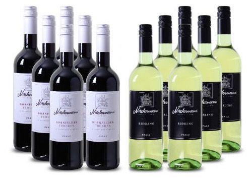 12 Flaschen Niedermann Wein für 48€   6x Weiß  & 6x Rotwein