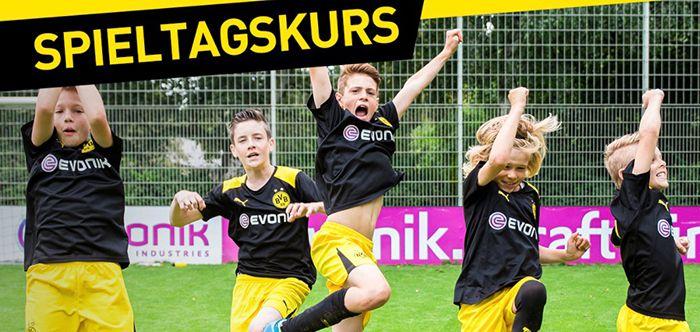 BVB Kinder Fußballschule + Schal, Essen, Trinken und 3 Sitzplatztickets der Profis ab 179€
