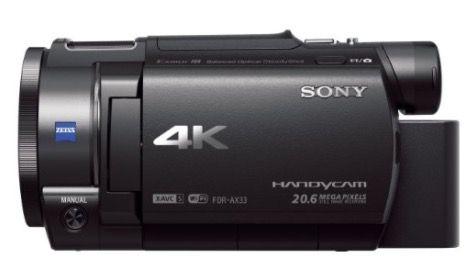 Sony FDR AX33 4K Camcorder für 499€ (statt 566€)