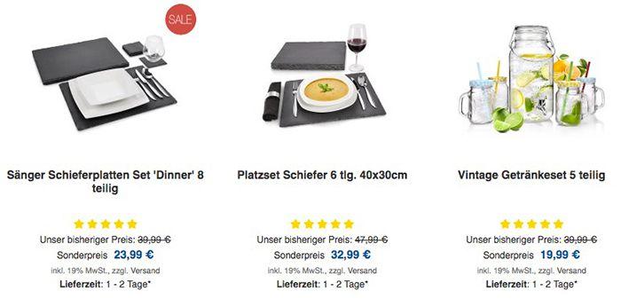 Black Freitag Sale bei bluespoon   z.B. 6 tlg. Ofenform Set aus Porzellan für 20€ (statt 25€)