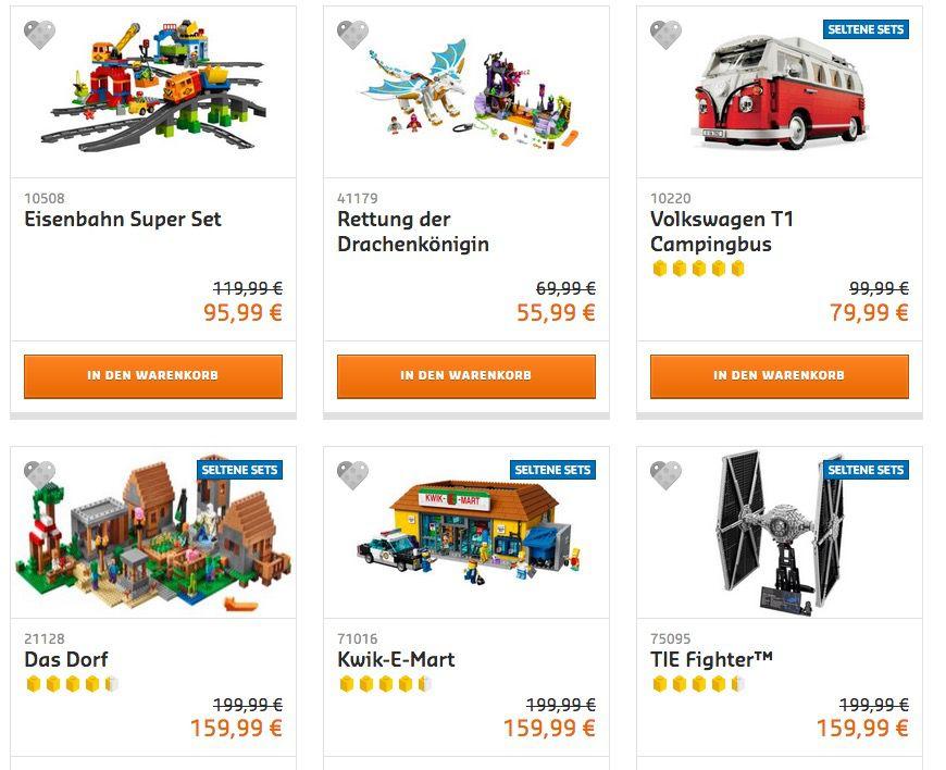 20% Rabatt auf viele Lego Artikel z.B. Volkswagen T1 Campingbus für 79€ (statt 99€)  bis Mitternacht