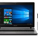 15,6″ Notebook (2 x 2,1 GHz, 8GB, 500GB, Win10) + Internetradio MEDION® E85032 + 32GB microSD Karte für 399€ (statt 564€)