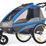 QERIDOO KidGoo2 Fahrradanhänger für 373,09€ (statt 402€) – 2-Sitzer für Kinder