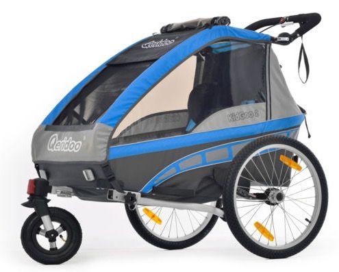 QERIDOO KidGoo2 Fahrradanhänger für 369,99€ (statt 409€)   2 Sitzer für Kinder