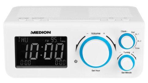 Medion Life E66323 Uhrenradio schwarz oder weiß für 11,99€