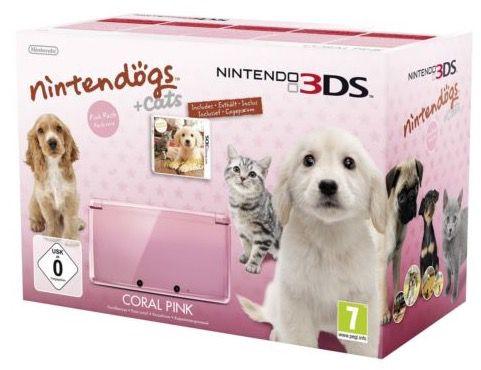 Nintendo 3DS Pink inkl. Nintendo Dogs G. Retriever für 119€